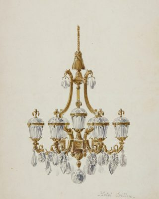 Exceptional archive ! This chandelier drawing was made a long time ago for the Crillon Hotel, a precious possession . . . #luxuryhome #lightdesigner #paris #delisleparis #bespokelighting #interiordesign #lighting #chandelier #lustre #savoirfaire #bronze #surmesure #drawing #crillon #crihhonhotel #madeinfrance