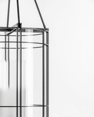 Details of Versailles Collection, design by @wilmotteassociesofficial . This lantern is in anthracite epoxy and sanded glass. ✨ . . . #luxuryhome #lightdesigner #paris #delisleparis #bespokelighting #interiordesign #lighting #suspension #lustre #savoirfaire #bronze #surmesure #contemporain #iron #versailles #jeanmichelwilmotte #wilmotte #architect